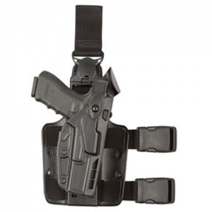 7305 7TS ALS/SLS Tactical Holster w/ Quick Release Finish: STX Plain Gun Fit: Glock 17 w/ITI  M3 Light (4.5  bbl) Hand: Left - 7305-832-412