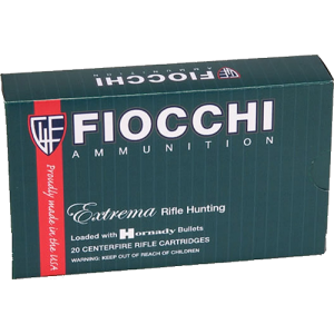 Fiocchi Ammunition Extrema Hunting .308 Winchester Tipped TSX Boat Tail, 168 Grain (20 Rounds) - 308TTSX