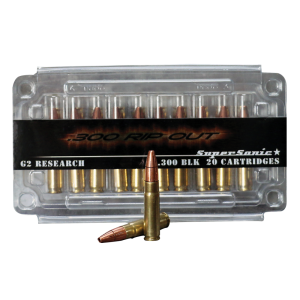 G2 Research RIP .300 AAC Blackout Hollow Point, 200 Grain (20 Rounds) - RIPOUT 300AA