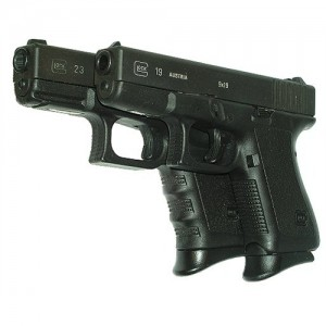 Pearce Black Grip Extension For Glock Mid Size/Full Size PG19