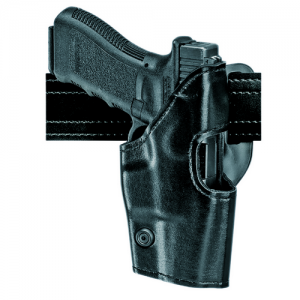 Safariland 295 Mid-Ride Level II Retention Right-Hand Belt Holster for Glock 20, 21 in Black Basketweave - 295-383-81