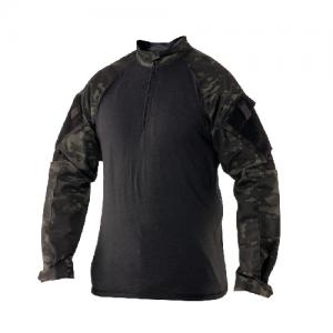 Tru Spec TRU Combat Shirt Men's 1/4 Zip Jacket in Multicam Black - X-Large