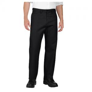 Dickies Industrial Flat-Front Pant Men's Uniform Pants in Black - 32 x 32