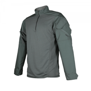 Tru Spec Regular 1/4 Zip Long Sleeve Large in Olive Drab - TRU Urban Force Combat Shirt