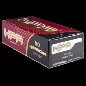 HPR Ammunition Target .45 Long Colt Total Metal Jacket, 250 Grain (50 Rounds) - 45C250TMJ