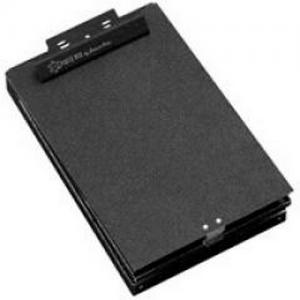 LTR Size Bottom Open Clipboard Box Color: Black Vinyl