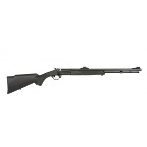 "Traditions R72003540 Buckstalker Break Open .50Cal 24"" Fiber Optic Black Syn Stk"