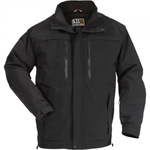 5.11 Tactical Bristol Parka Systems Men's Full Zip Coat in Black - Medium