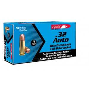 Aguila .32 ACP Full Metal Jacket, 71 Grain (50 Rounds) - 1E322110