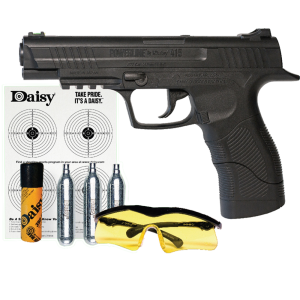 Daisy 5415 Powerline 415 Air Pistol Kit SA CO2 Powered .177 BB 21rd Syn Stk Blk