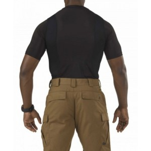 5.11 Tactical Crew Neck Men's Holster Shirt in Black - Medium