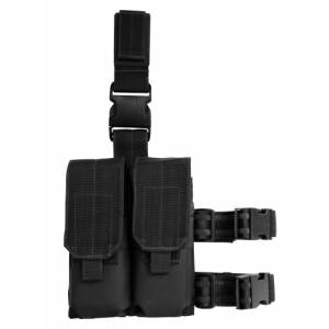 Drop Leg Platform with Attached M4/M16 Double Mag Pouch Color: Black