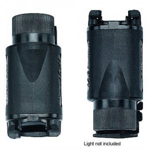 Uncle Mike's Tactical Light Holder 5030-1 Kydex in Black Smooth Kydex - 5030