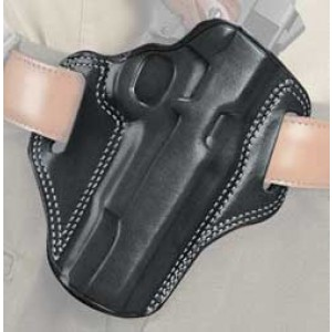 "Galco International Combat Master Right-Hand Belt Holster for J-Frame in Black Leather (2"") - CM158B"