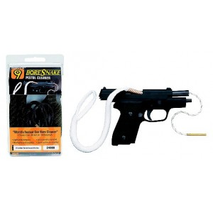 Hoppes 44/45 Caliber Pistol Quick Cleaning Boresnake with Brass Weight 24004