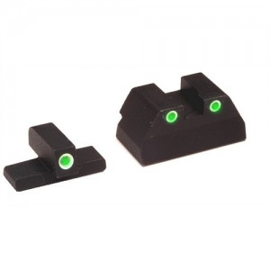 Ameriglo Green Front/Rear Tritium Night Sights For H&K USP Compact HK157