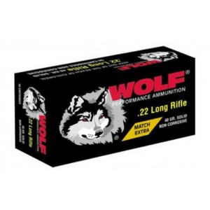 Wolf Performance Ammo .22 Long Rifle Round Nose, 40 Grain (50 Rounds) - 22XTRA50BOX