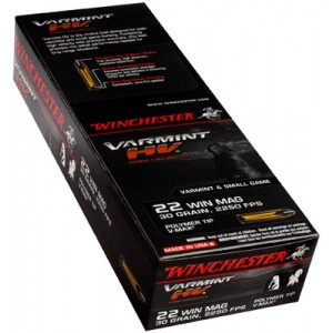 Winchester Supreme .22 Winchester Magnum Poly-Tip V-Max, 30 Grain (50 Rounds) - S22M2PT