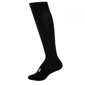 UA Women's HeatGear Uniform Boot Sock Color: Black Size:
