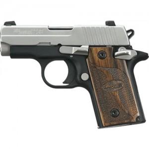 "Sig Sauer P238 Micro-Compact SAS .380 ACP 6+1 2.7"" Pistol in Black Nitron (Brown Goncalo Alves Grip) - 238380SAS"