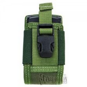 4' Clip-On Phone Holster Color: Olive
