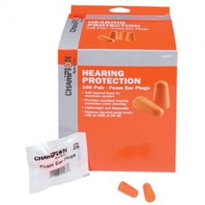 Champion Molded Foam Earplugs 100 Pair Package 40959