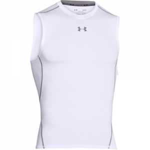 Under Armour Armour Heatgear Men's Tank Top in White - Small
