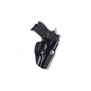 Galco International Stinger Right-Hand Belt Holster for Glock 43 in Black Leather Saddle Leather - SG800B