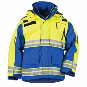 5.11 Tactical First Responder Hi-Vis Men's Full Zip Jacket in Royal Blue - 2X-Large