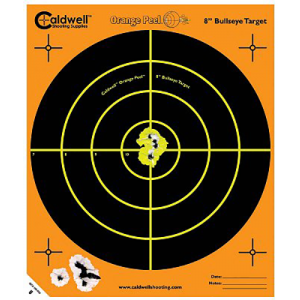 """Caldwell 120-556 Orange Peel Targets Bullseye 12"""" 5 Pack"""
