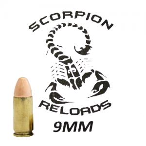Remanufactured Scorpion 9mm, 115 Grain (50 Rounds) - SRA9MM