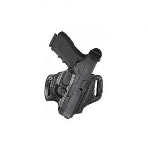 Aker Leather FlatSider XR12 Right-Hand Paddle Holster for Springfield XD-S in Black - H168BPRU-XDS