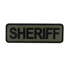 MORALE PATCH, SHERIFF 6  X 2 ,  OD W/ BLK