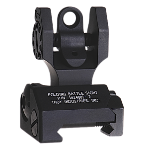 Troy FBSTTBT00 Battle Sight Rear Tritium Di-Optic Aperture Folding Universal Blk
