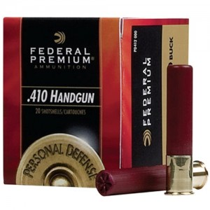 "Federal Cartridge Premium Personal Defense .410 Gauge (3"") 4 Buck Shot Lead (20-Rounds) - PD413JGE4B"