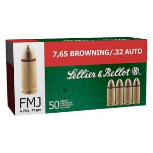 Magtech Ammunition .32 ACP Full Metal Jacket, 73 Grain (50 Rounds) - SB32A