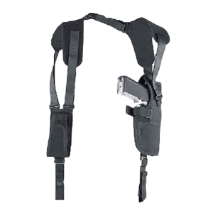 "Uncle Mike's Vertical System Right-Hand Shoulder Holster for Large Autos in Black (4.5"" - 5"") - 75051"
