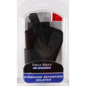 "Uncle Mike's Dual Retention Jacket Slot Left-Hand Belt Holster for Medium Revolvers in Black (4"") - 9852-2"