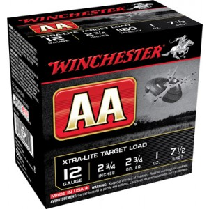 """Winchester AA .12 Gauge (2.75"""") 7.5 Shot Lead (250-Rounds) - AAL127"""