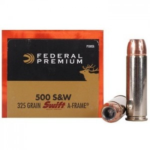 Federal Cartridge Vital-Shok .500 S&W Swift A-Frame, 325 Grain (20 Rounds) - P500SA