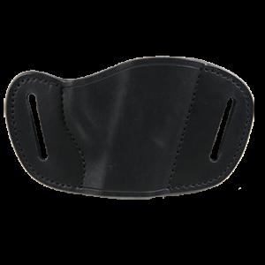 Bulldog MLBL Belt Slide Large Automatic Handgun Holster Right Hand Leather Black - MLBL