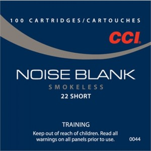 CCI 22 Short Training Noise Blanks Smokeless Powder, 100 Round Box, 0044