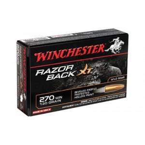 Winchester Razorback XT High Velocity .270 Winchester Hollow Point, 130 Grain (20 Rounds) - S270WB