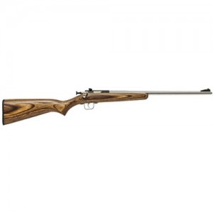 """Crickett Single Shot .22 Long Rifle 16.12"""" Bolt Action Rifle in Stainless Steel - 255SS"""