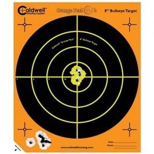 """Caldwell 5 Pack 8"""" Orange Peel Targets 805645"""