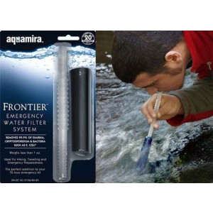 Miraguard Compact Frontier Military Aquamira Water Treatment Black/Clear Filters 30 Gallons 67109