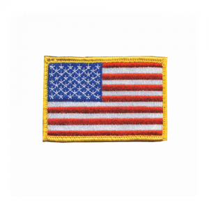 Patch, American flag Red, Whit  Patch, American flag Red, White, Blue w/hook & loop Red,White,Blue Embroidered with matching border Come with hook & loop for quick on-off capability 2 X 3
