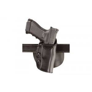 "Safariland Model 568 Right-Hand Belt Holster for Beretta 92D, 92Dm, 92Ds, 92F, 92Fs, 92G, 92 Brigadier Fs in Black Smooth Safari Laminate (5"") - 568-53-411"