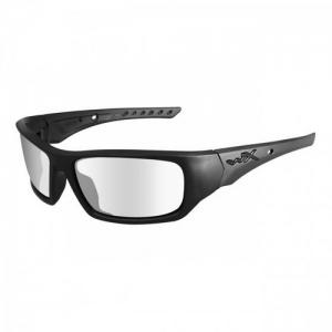 Wiley X - Vapor Lens Color: Smoke Grey - Clear - Light Rust/Matte Black w/RX Insert