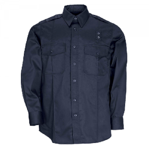 5.11 Tactical PDU Class A Men's Long Sleeve Uniform Shirt in Midnight Navy - Large